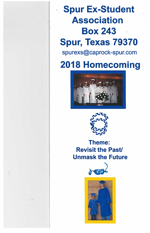 Spur Ex-Student Association Box 243. 2018 Homecoming.
