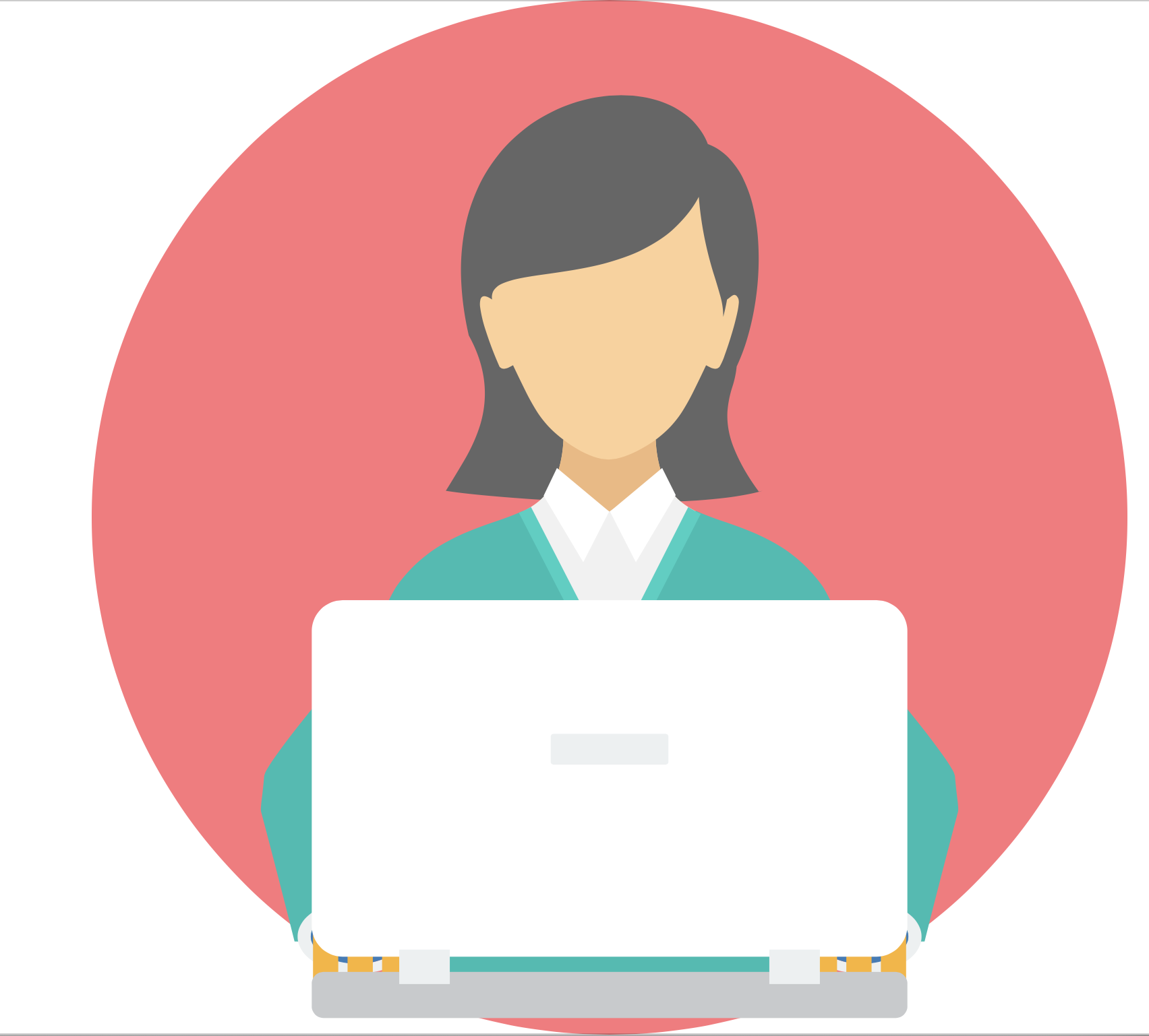 An image of a woman using a laptop.