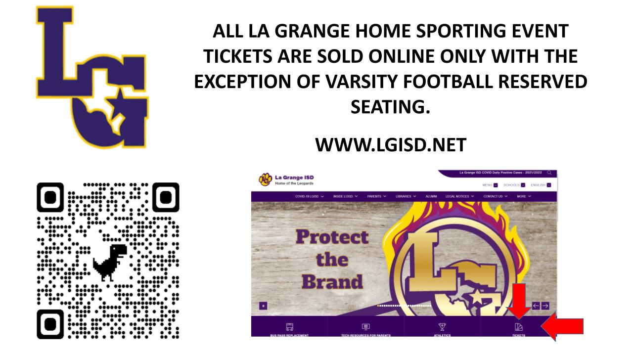 LGISD Home Game Online Tickets