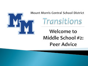 Welcome to Middle School #2: Peer Advice.