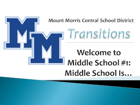 Welcome to Middle School #1: Middle School is...