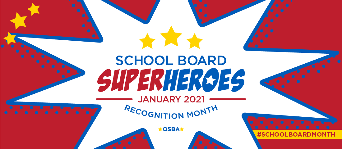 School Board Superheroes January 2021. Recognition Month