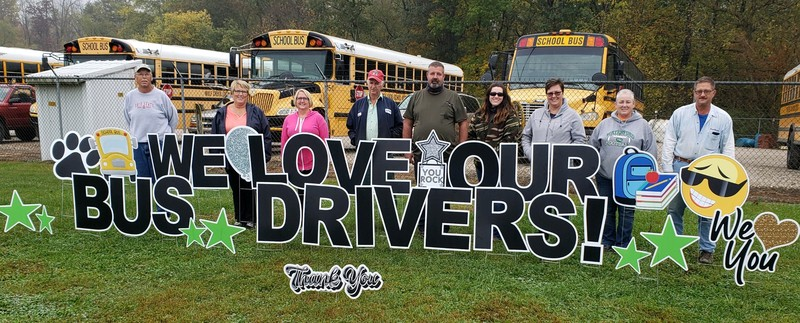 We love our bus drivers photograph