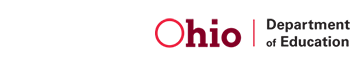Ohio state required information button