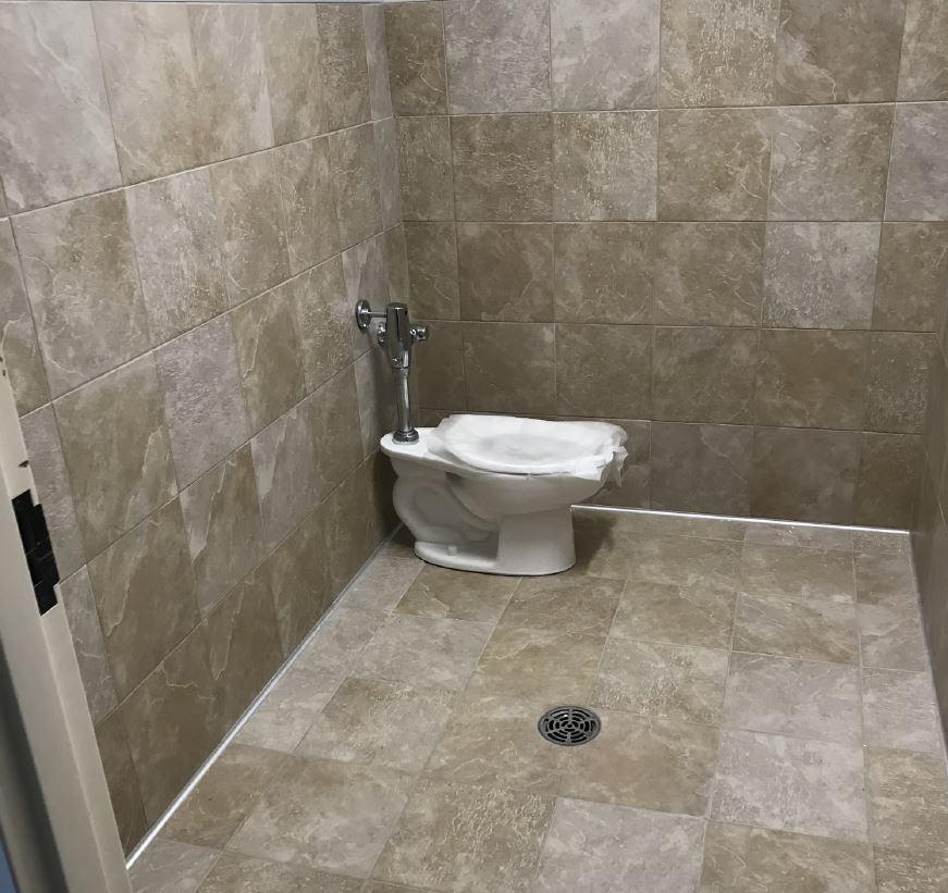 photo of a classroom bathroom
