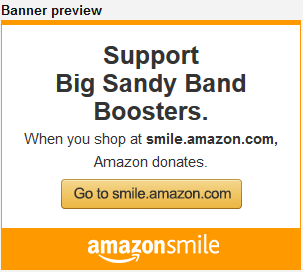 Support Big Sandy Band Boosters Visit Amazon Smiles dot com