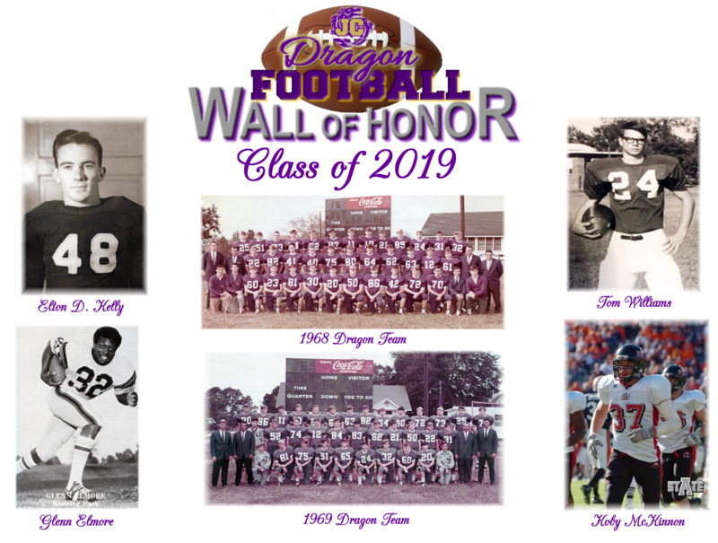 Class of 2019 Elton D. Kelly, Glenn Elmore, 1968 Dragon team, 1969 Dragon Team, Tom Williams, Koby McKinnon