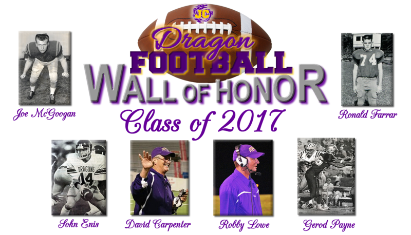 Class of 2017 Honorees Joe McGoogan, John Enis, David Carpenter, Robby Lowe, Gerod Payne, Ronald Farrar