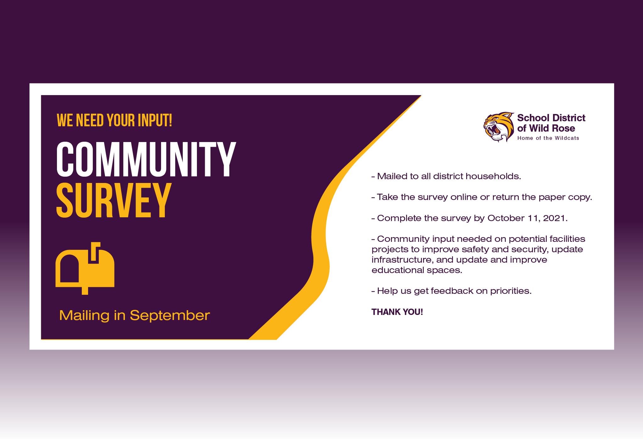 Community Survey Reminder