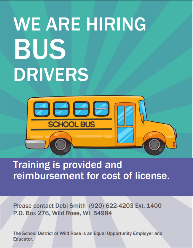 We are hiring bus driver