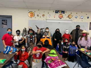 Halloween RMS (masks are not worn when students are eating)