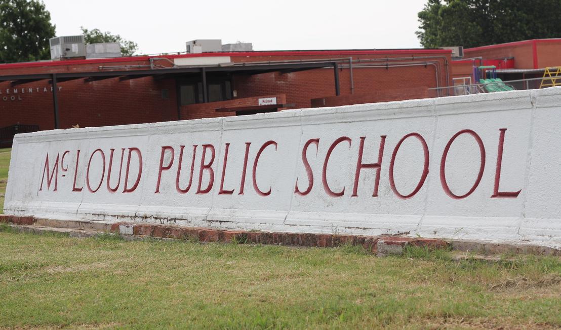 McLoud Public Schools Sign