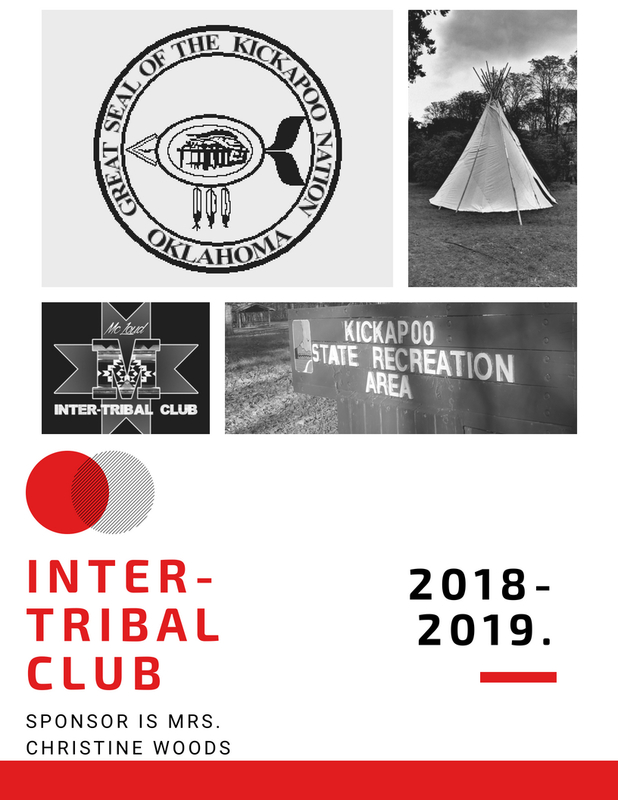 inter-tribal club 2019-2019 sponsor is mrs. christine woods graphic