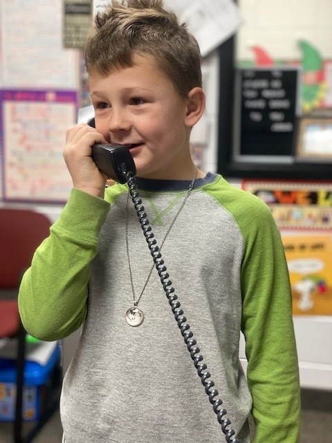 Good news phone call - Boy student