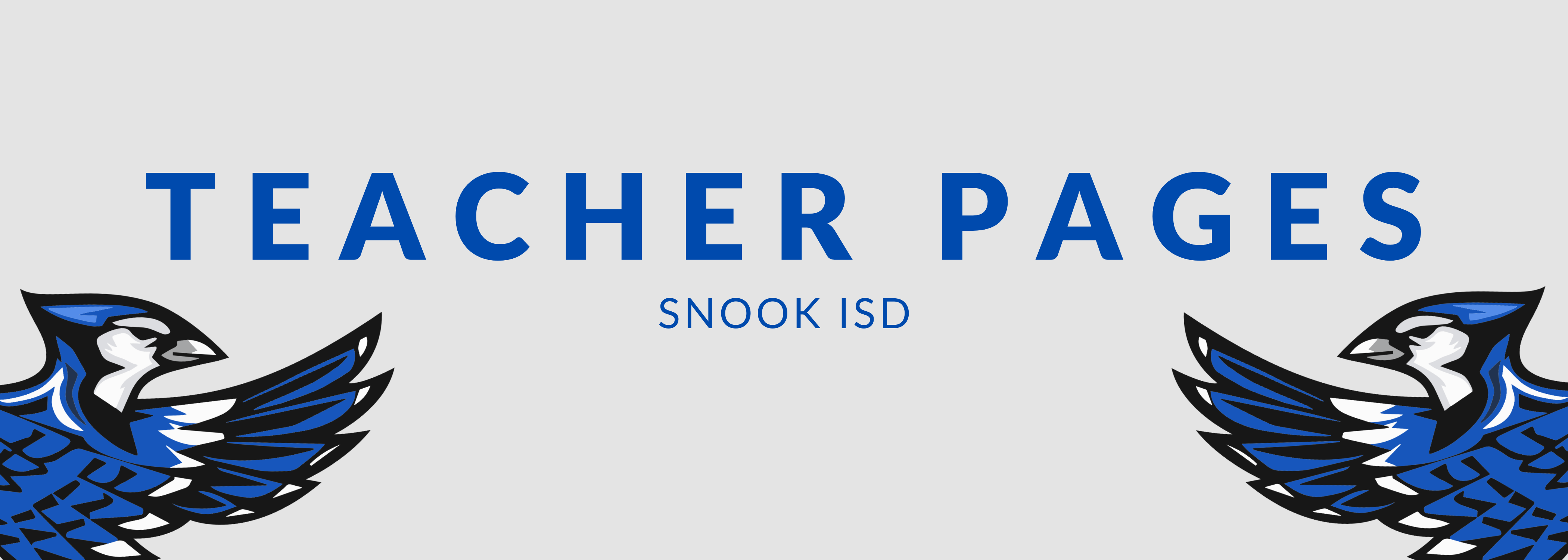 Teacher Pages Snook ISD
