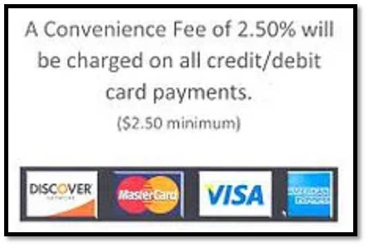 Credit card fee statement
