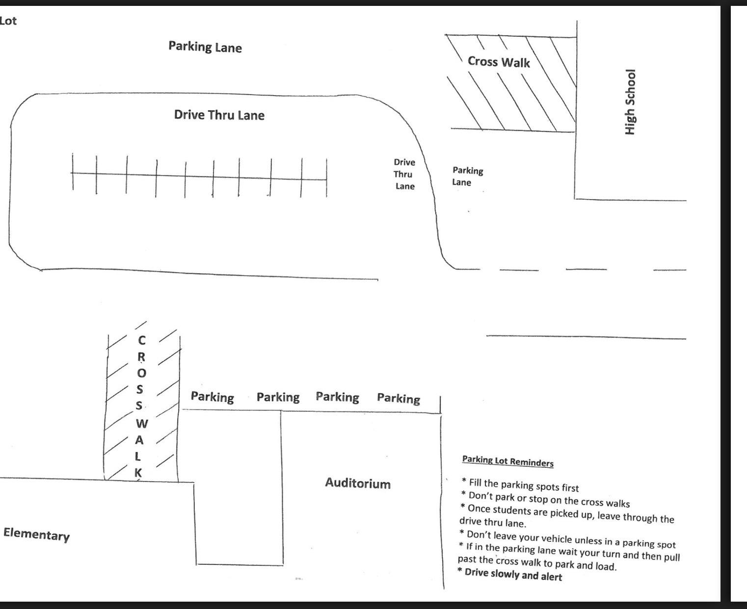 Parking lane map