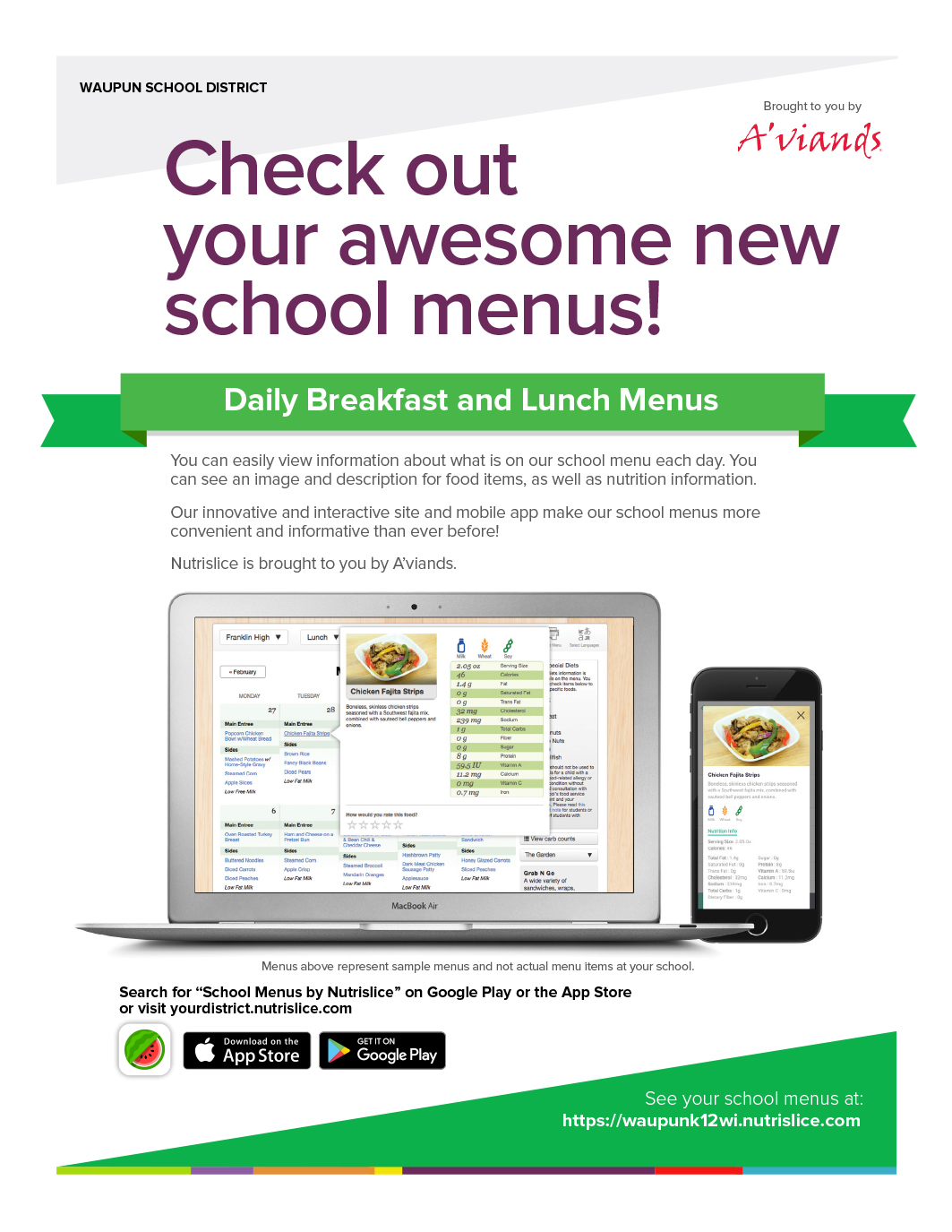 Check out your awesome new school menus! - app info