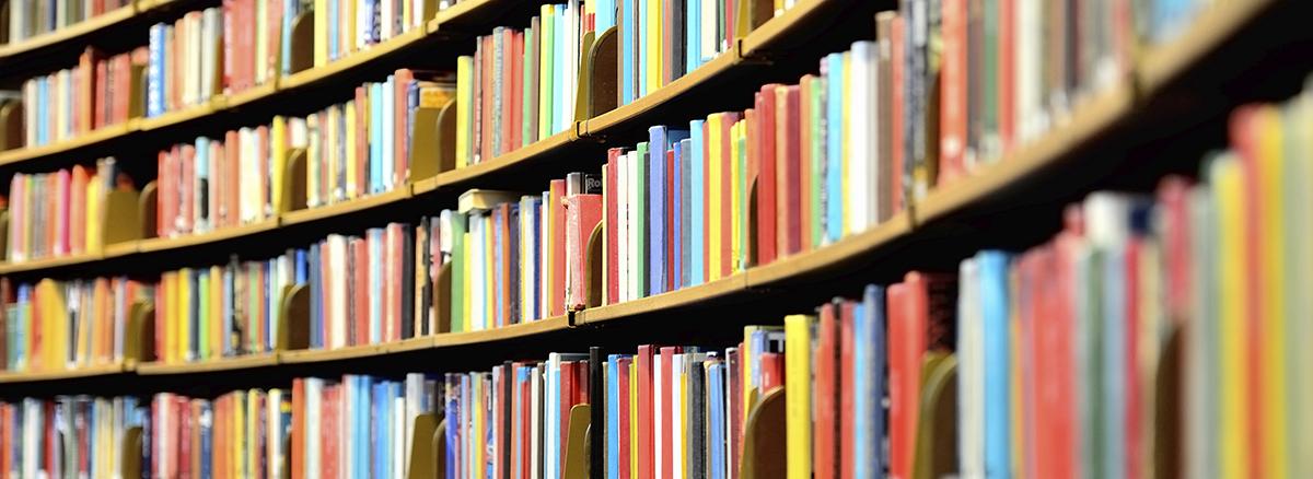 Photo of many books.