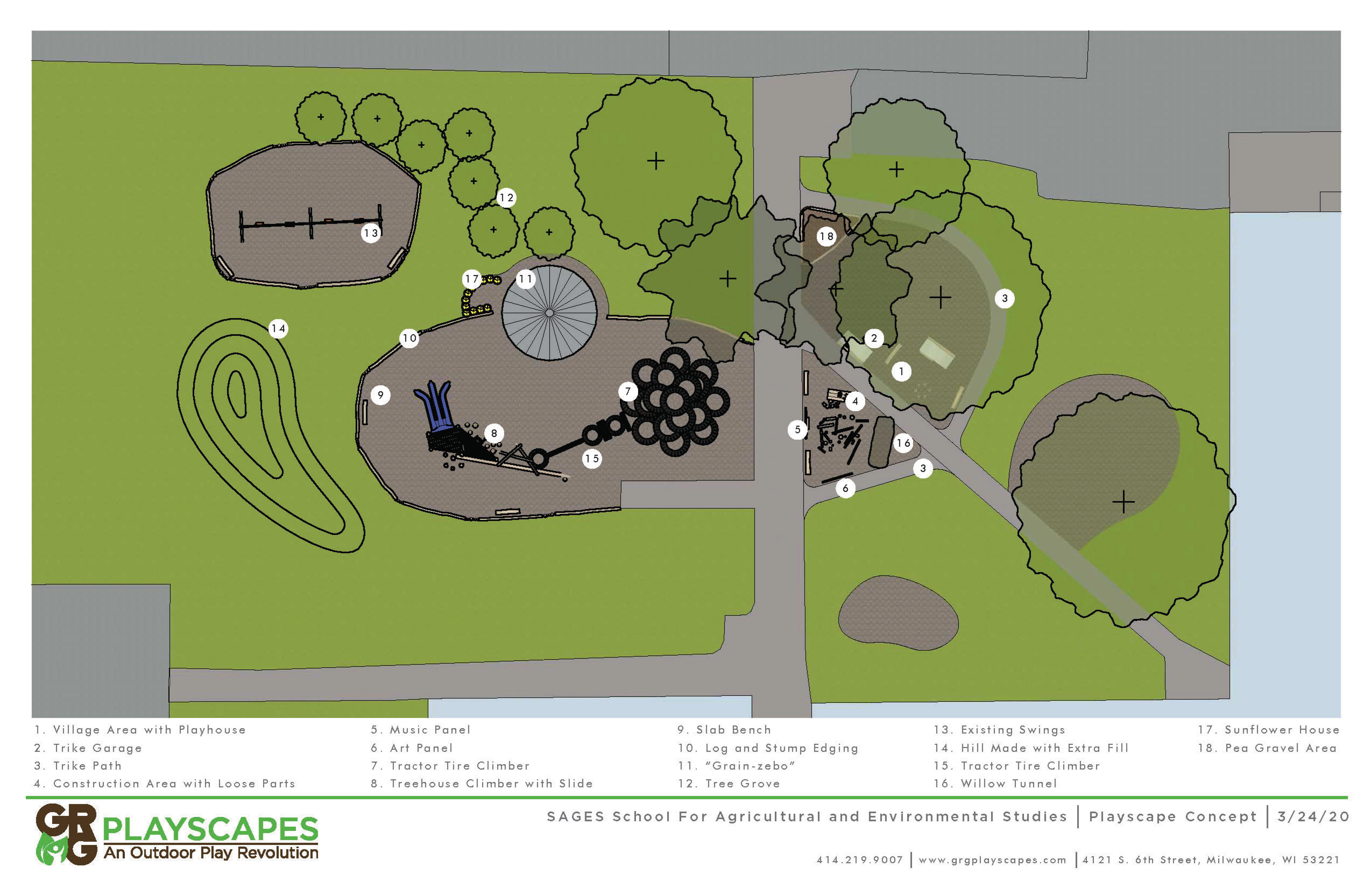 map of living playground