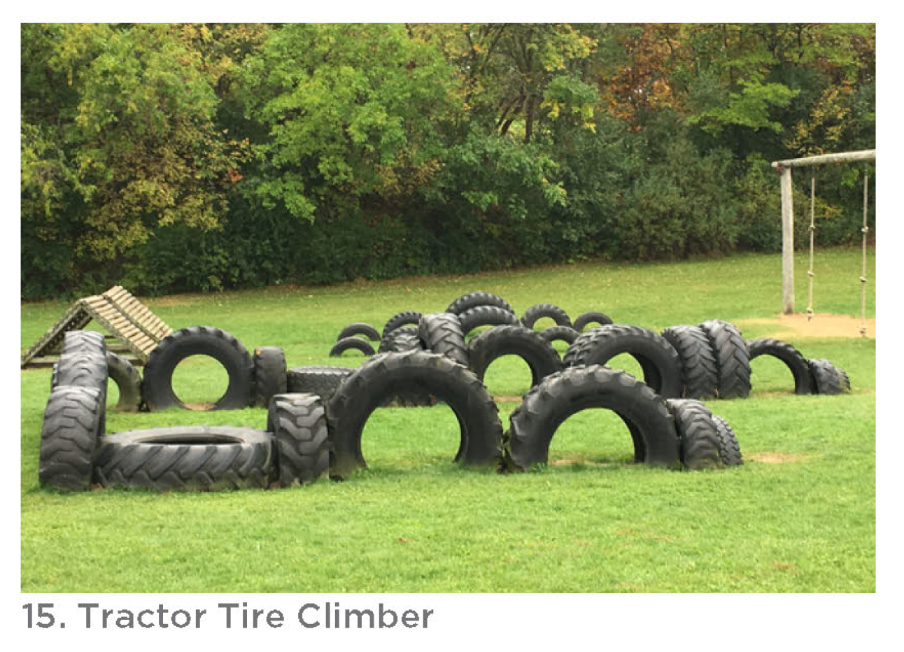 Photo of the tractor tire climber.
