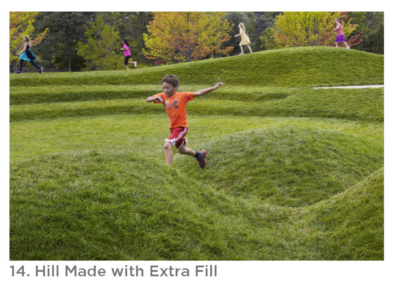Photo of the hill made with extra fill.