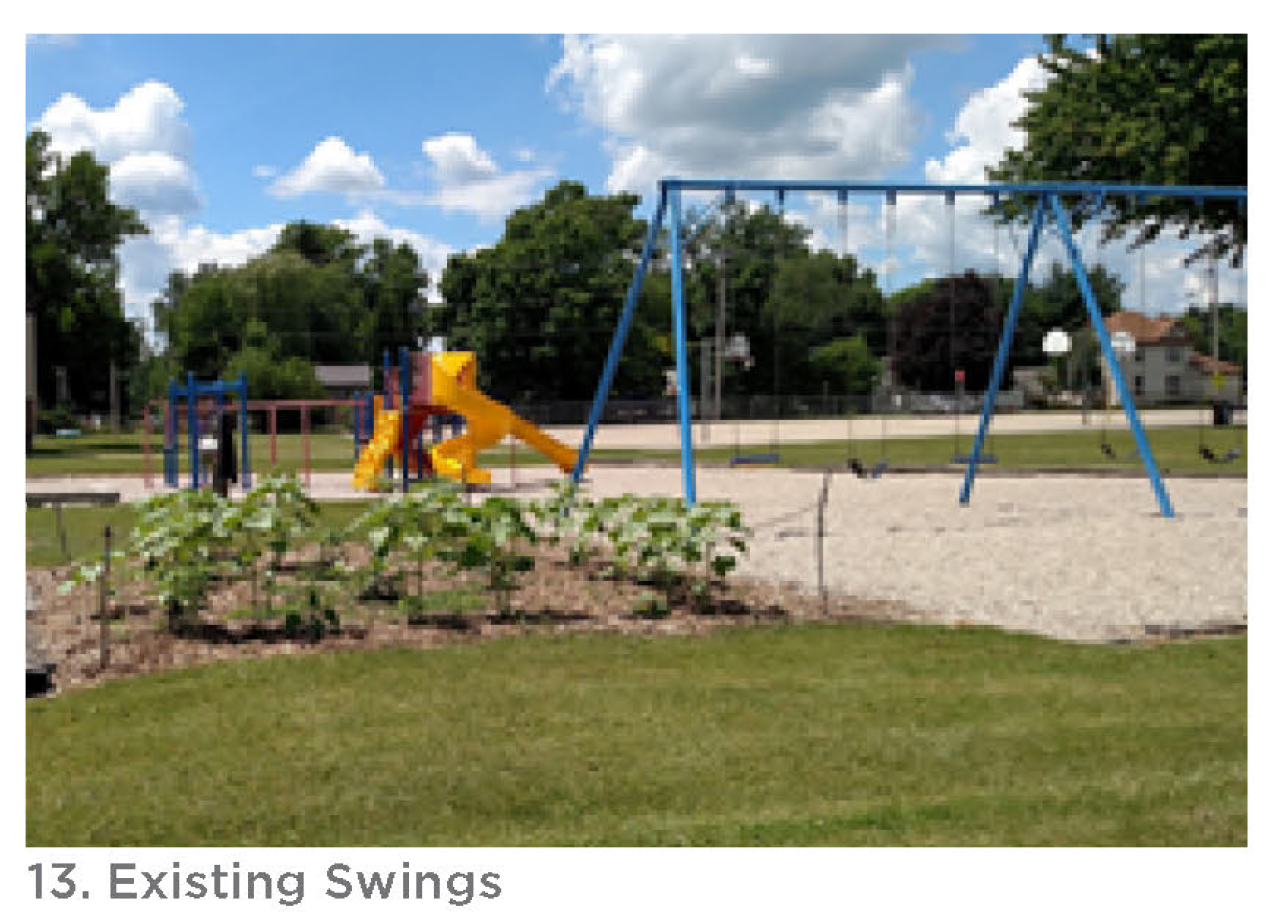 Photo of the existing swings.