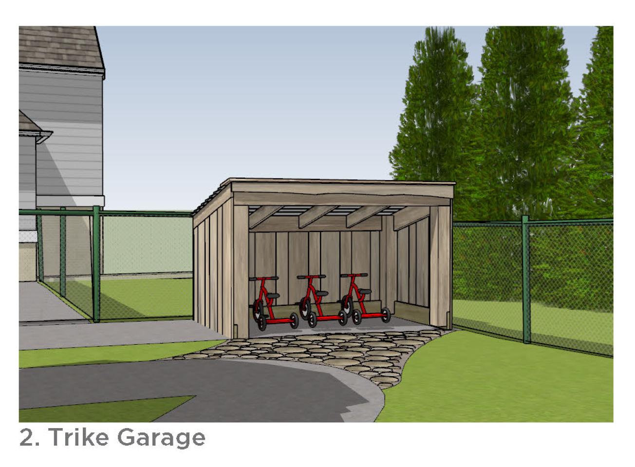 Photo of the trike garage.
