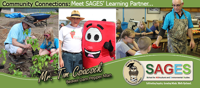 Photos of Mr. Tim Csiacsek - Beaver Dam Pepper Man.