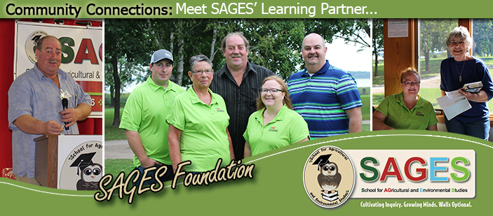 Photos of SAGES foundation volunteers.