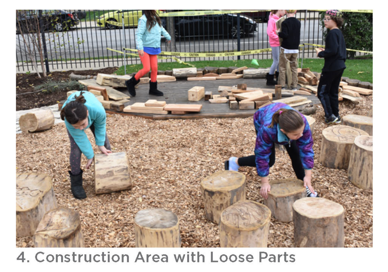 Photo of the construction area with loose parts.
