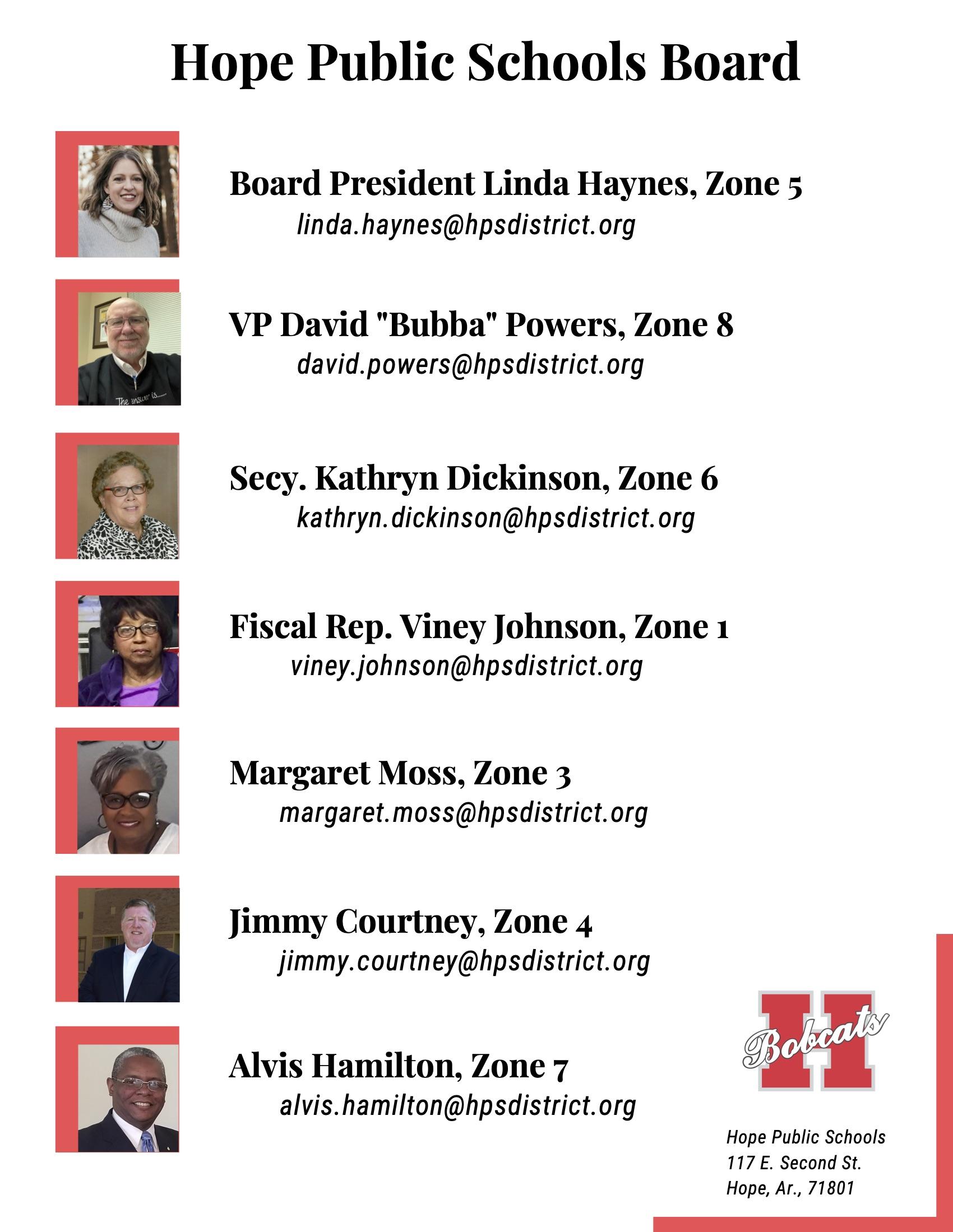 HPS 2020-2021 School Board
