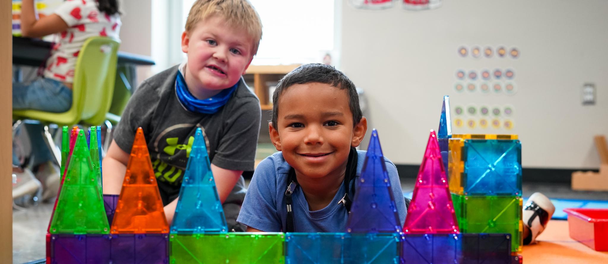 kindergarten boys smile