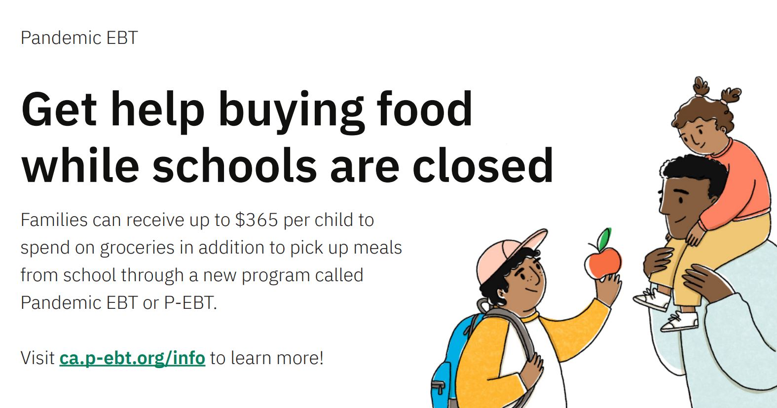 Get help while buying food while schools are closed