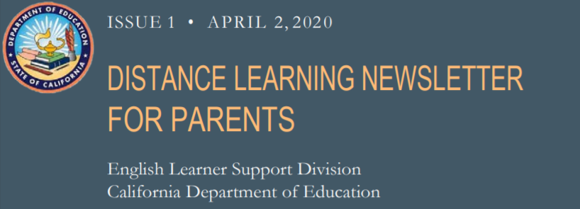 Distance Learning Newsletter for Parents