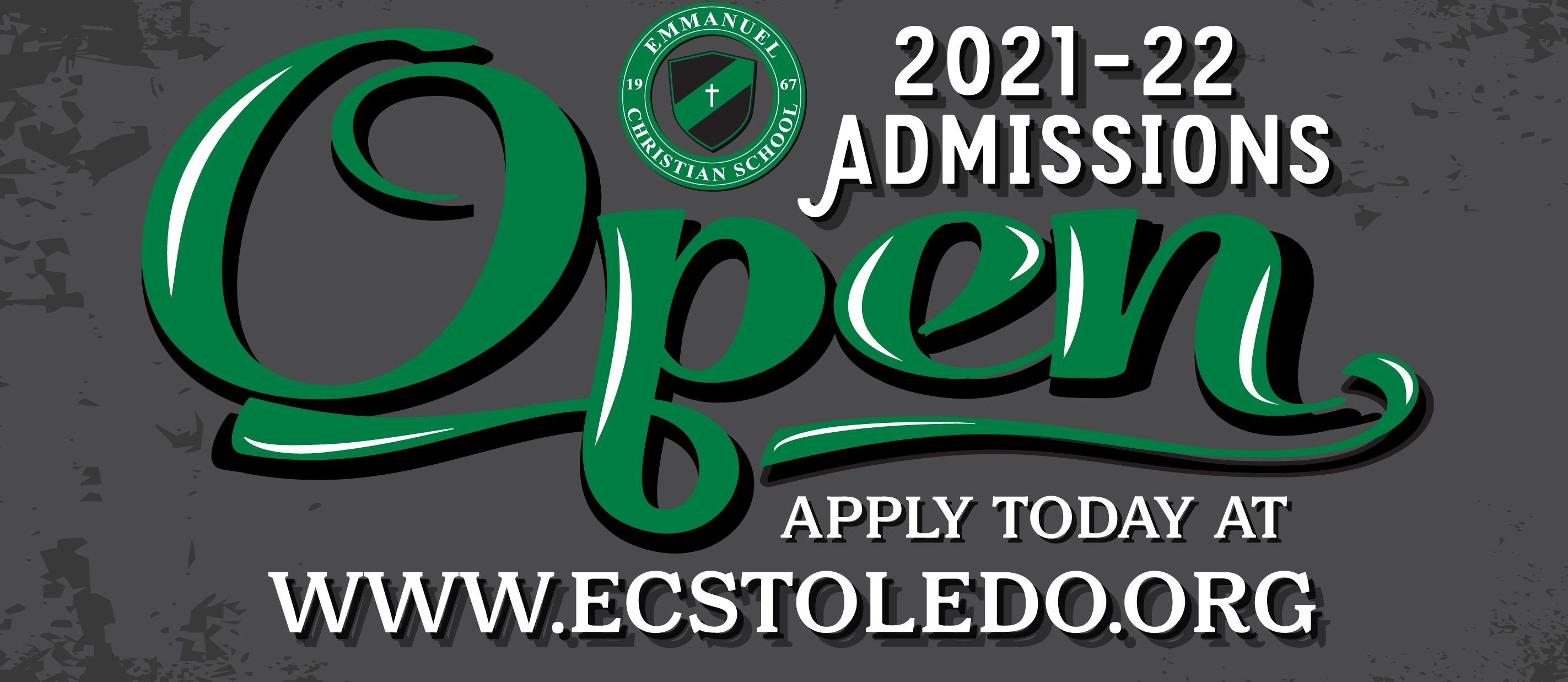 Open admissions, apply today!
