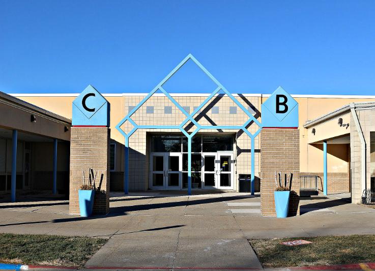CEDAR BLUES HIGH SCHOOL BUILDING