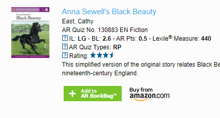 Anna Sewell's Black Beauty.