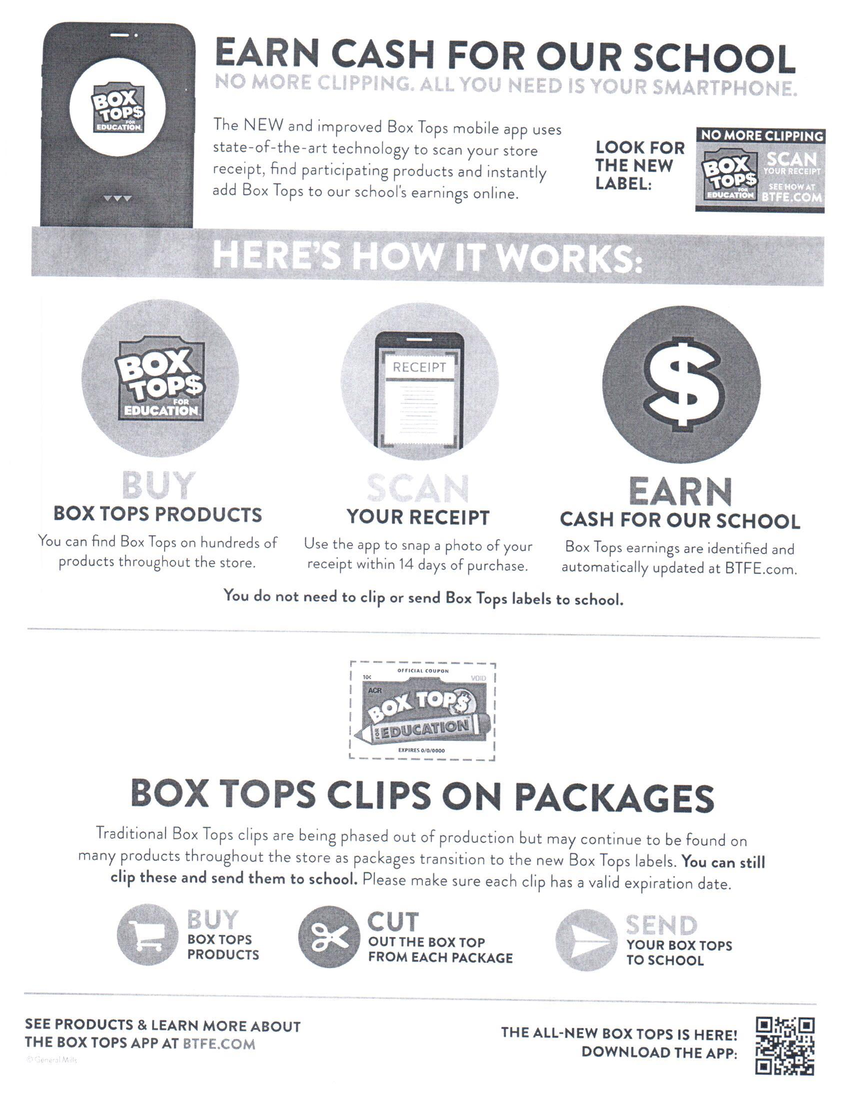 BOX TOPS FOR EDUCATION INFO