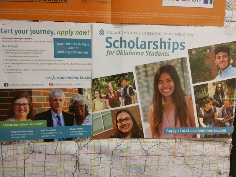 Scholarships for Oklahoma Students. Apply of occf.academicworks.com