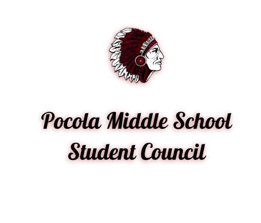 An image of the Pocola Public Schools logo. Pocola Middle School Student Council.