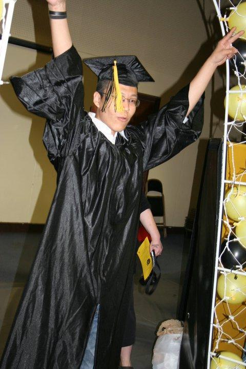 A photo of a graduate.