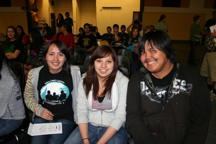A photo of some students smiling.