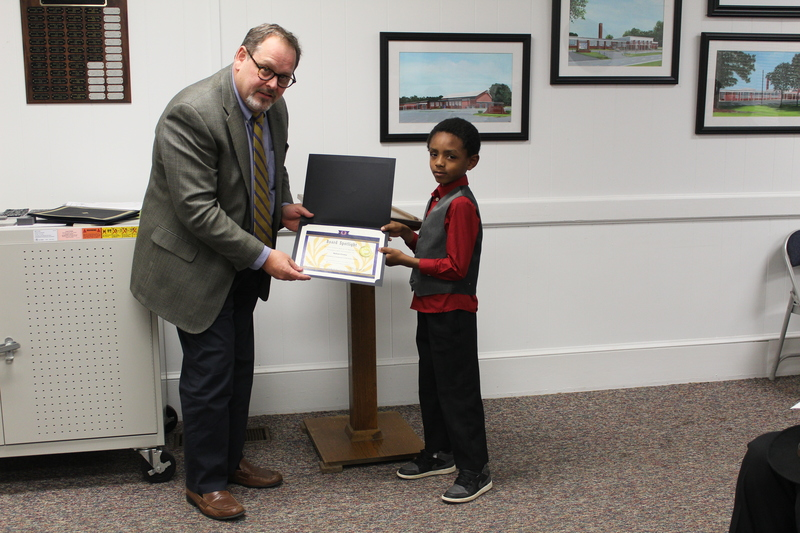Aidan Corey, Superintendent's Christmas Card Choice Award