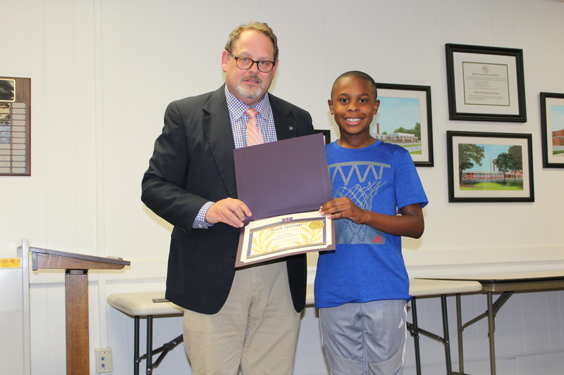 State Science Fair Participant: Tanner Patrick. South Creek Elementary