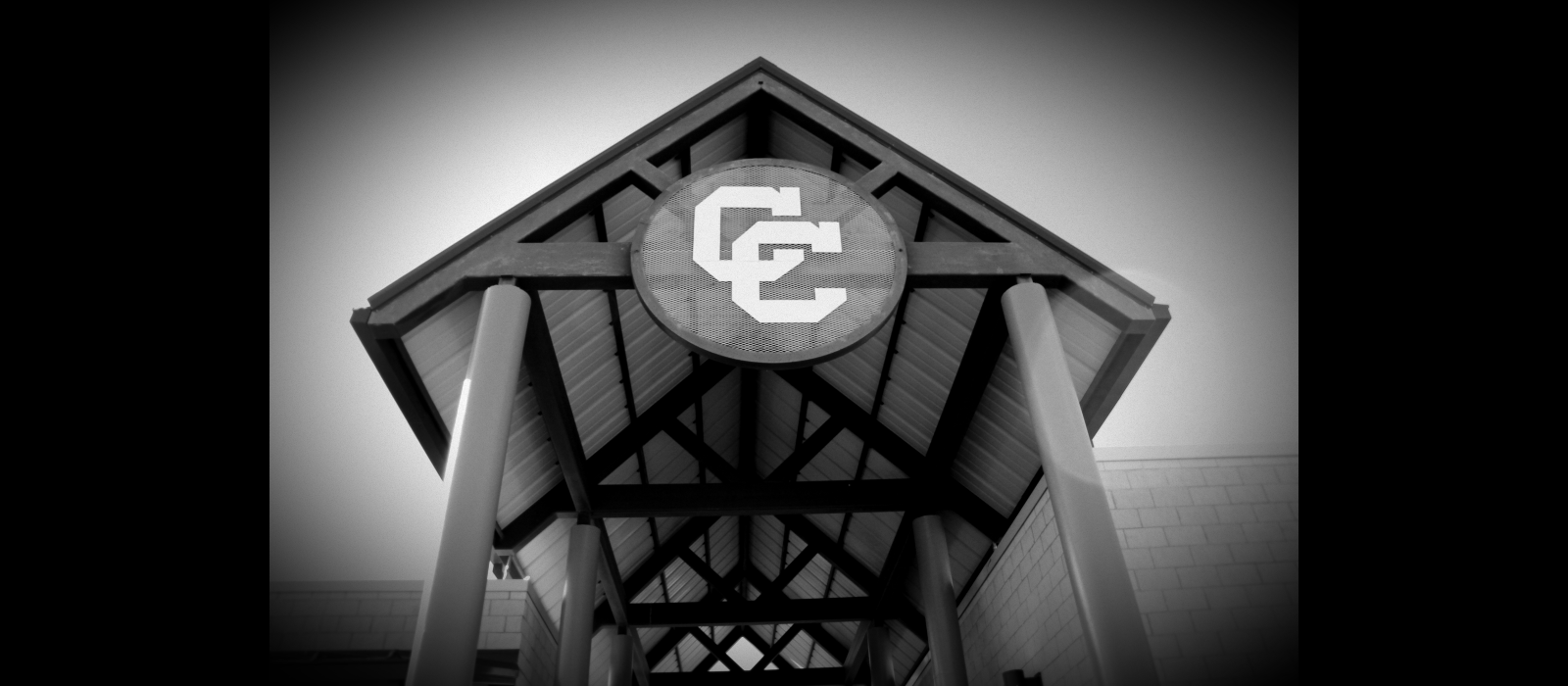 CC emblem at stadium