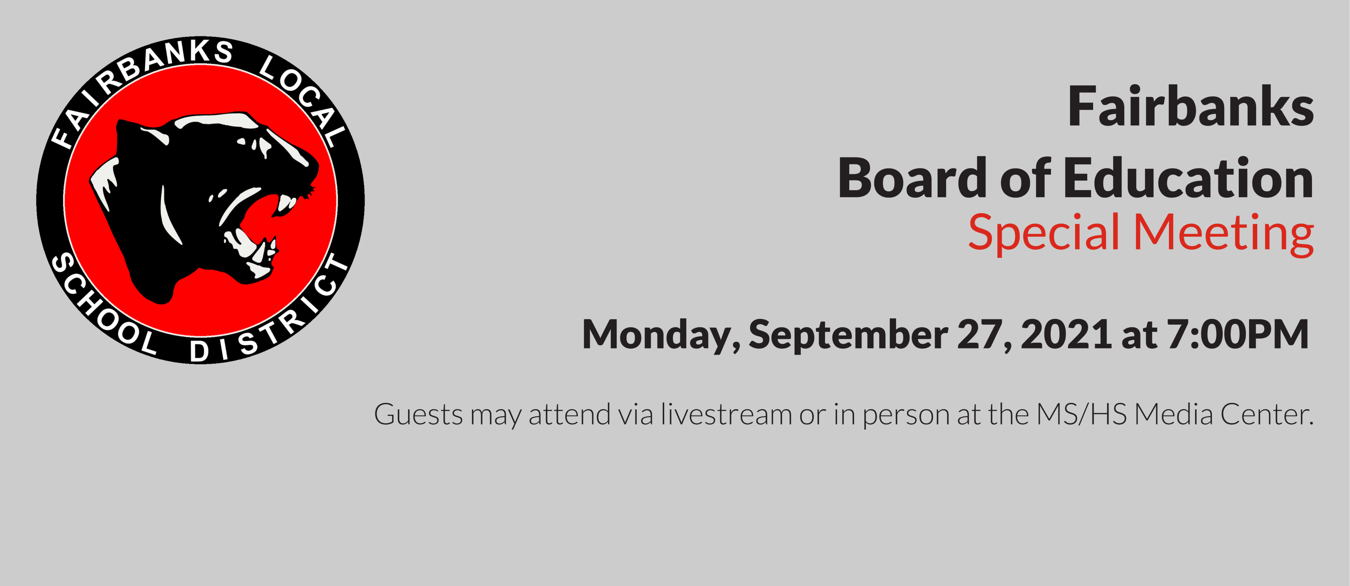 Board Special Meeting