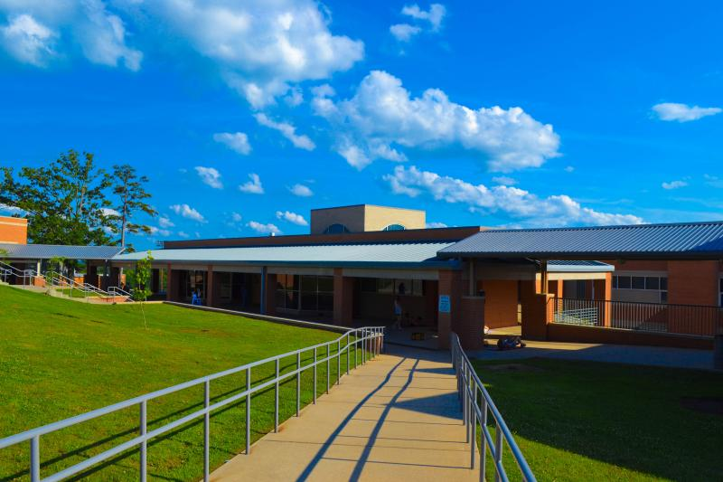 A picture of the Forest Heights Stem Academy from outside.