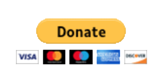 Donate. An image of the credit cards accepted: VISA, Mastercard, Maestro, American Express and Discover Network.