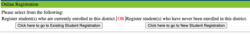 Existing or New Registration